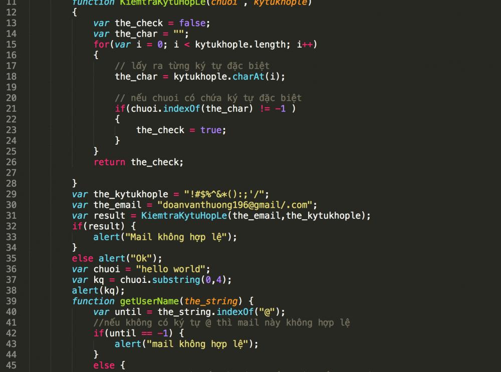 Hàm Xử Lý Chuỗi Trong Javascript