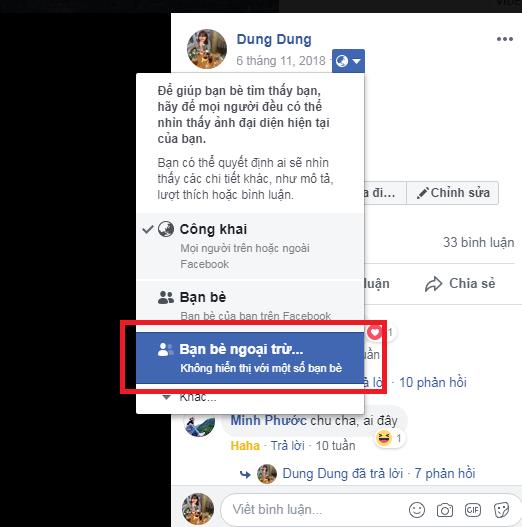 meo tat binh luan like tren anh dai dien facebook