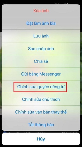 thu thuat tat binh luan like tren anh dai dien facebook
