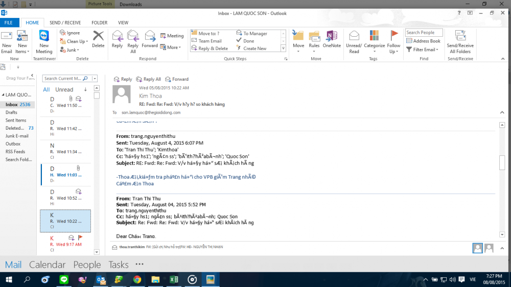 Lỗi Font Chữ Trong Outlook 2010