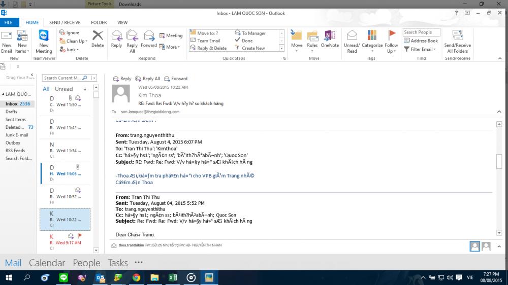 Lỗi Font Chữ Trong Outlook 2010