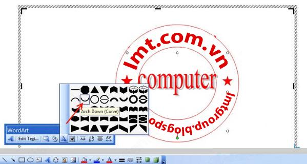 Tạo logo, con dấu đơn giản bằng Word và Paint