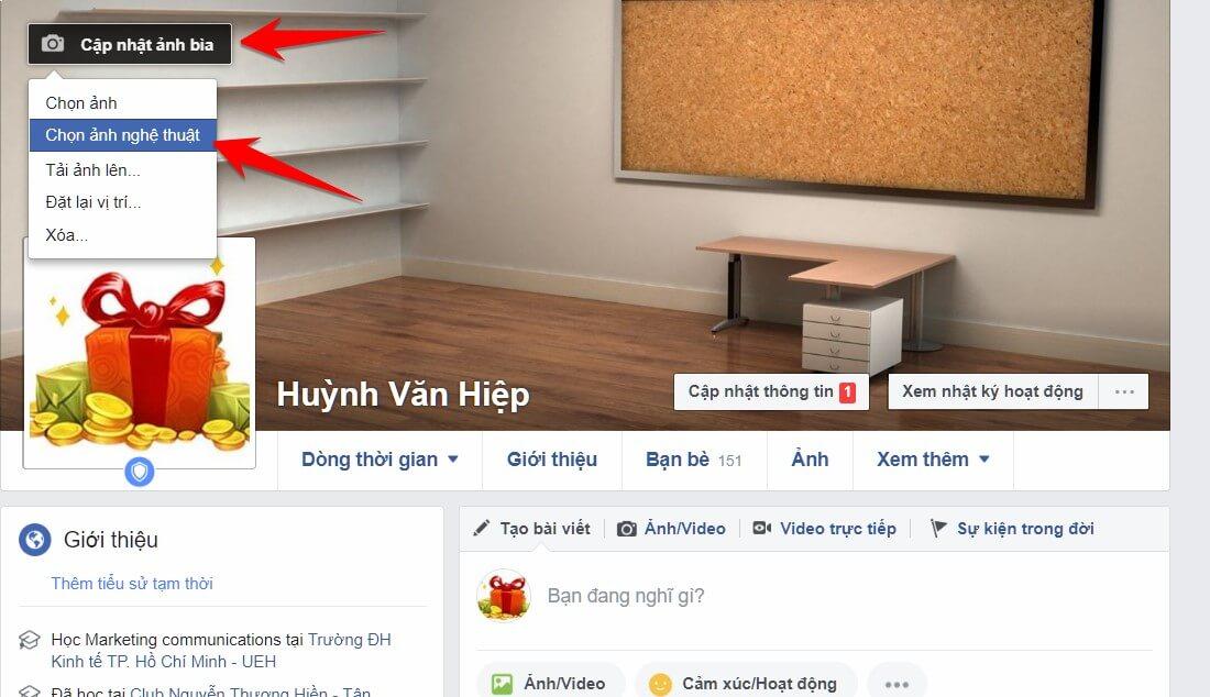 Hướng dẫn ẩn ảnh bìa và avatar Facebook