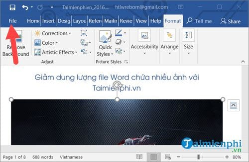 cach lam giam dung luong file word chua nhieu anh 5
