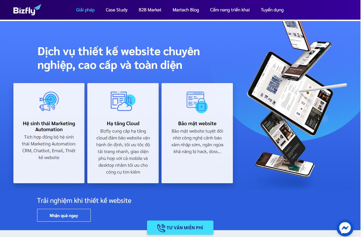 Cách tạo web cá nhân chuyên nghiệp bằng Bizfly Smart Web